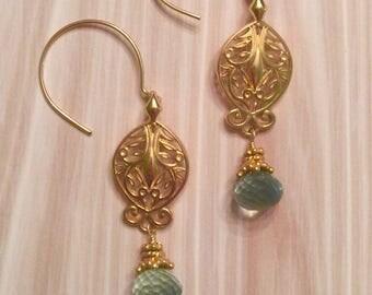 Mint Fluorite Earrings