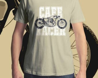 Cafe Racer T-Shirt, Men's T-Shirt, Women's T-Shirt, MotoGP T-Shirt, Motorcycle T-Shirt, Custom Motorcycle T-Shirt, Vintage T-Shirt