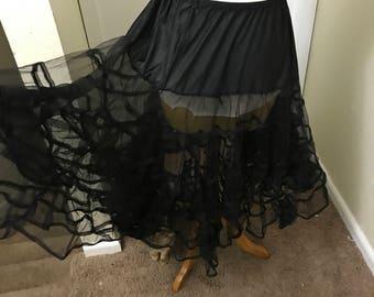 Black 1950s vintage petticoat