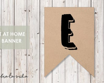 DIY Banner - 'E'. Instant Download. Printable Banner Letters. - 02