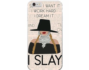 """The """"I Slay"""" Phone Case, Work Hard iPhone Case, Dream Phone Case, Dream Samsung Case, Beyonce Phone Case / Fits iPhone and Samsung"""