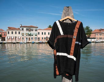 Graphic Dress - Vestito in lino - Vestito comodo - Large dress - Linen Dress - Abito estivo - Summer dress - Made in Italy Dress