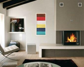 """Wood Art - """"Happiness"""" - Modern Wood Wall Art - Modern Home Decor"""