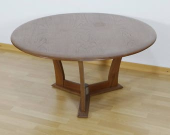 Part of solid teak coffee table, round, in Danish design - 1960s