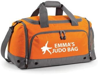 iLeisure High Judo Holdall with your Name/Club Holdall Printed Kit Bag.