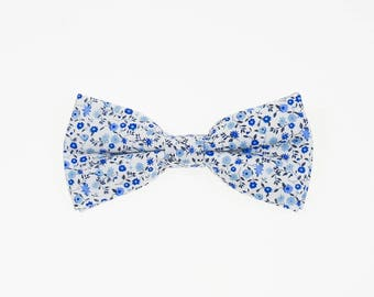 de MORÉ - blue Flowerfield bow tie