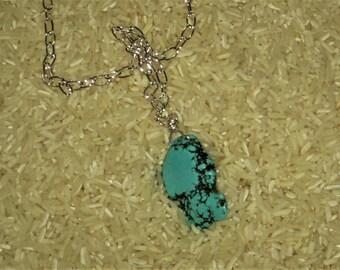 "Turquoise Stone Necklace 30"""