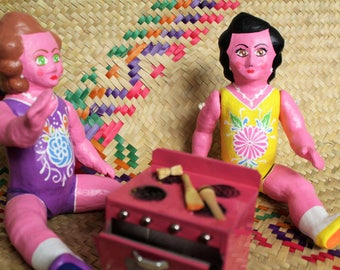 Mexican Doll, Lupitas, Mexican Crafts, Traditional Mexican Toys, Marías, Papier Mache Doll.