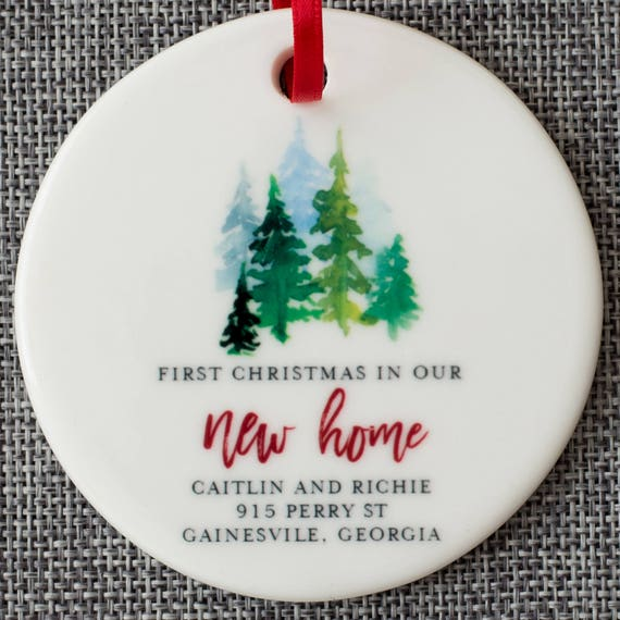 First Christmas In Our New Home Ornament Personalized Gift