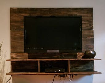 TV Wall Pannel with Floating Shelves
