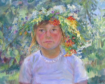 Mira. Custom Painting Oil Painting Portrait of a child Portrait of a photograph and from nature Portrait on canvas
