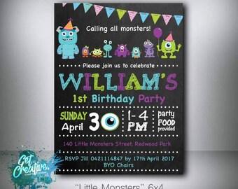Monster's birthday invitation - digital file supplied