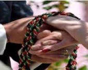 Celtic CUSTOM HANDFASTING CORD  Celtic Handfasting  Weddings or Vow Renewals You choose the Color