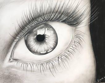 Black and white eye.