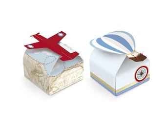 Hot Air Balloon / Vintage Airplane Candy Box - 24 Units