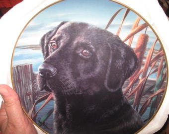 """Franklin Mint Collector Plate """"Man's Best Friend"""" by Randy McGovern"""