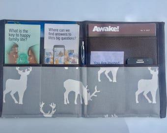 PRE-ORDER JW Ministry Folder - Standard, Magazine folder, Tract Holder, Service Organiser, Invitation Holder - Custom Made