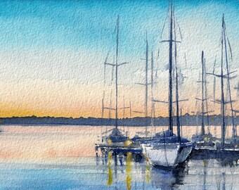 Landscape Watercolour Painting Q105