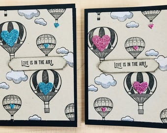 "Valentine ""Love is in the Air"" Lift Me Up Card 
