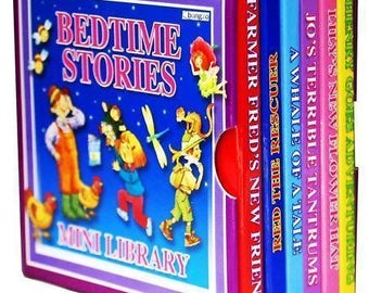 Bedtime Stories Mini Library Set 6 Board Children Books Party Bag Filler Children Educational Board Book 1971BSML