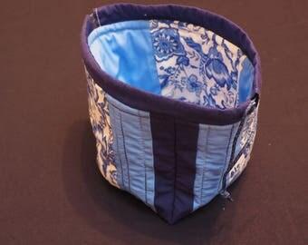 Blue Floral 'Japanese Lunchbag'