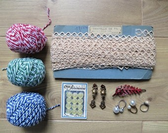 1950's French antiques lace - 19.5m perfect for vintage fashions / doll clothes making