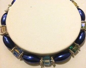 Rainbow Cluster Bead Bracelet