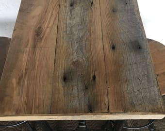 Reclaimed Wood Table and 2 Stools