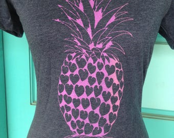 The Aloha Purple Pineapple T-Shirt -- Free Shipping -- Made in Hawaii