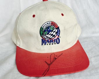 Mario Andretti Autographed Hat. Final Race. 1994