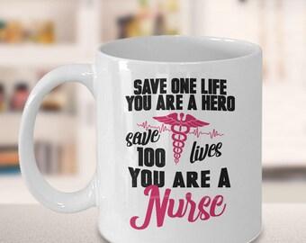 nursing student, nursing school, nursing graduation, school nurse, nurse appreciation, message mug, gift for her, Christmas, saving lives