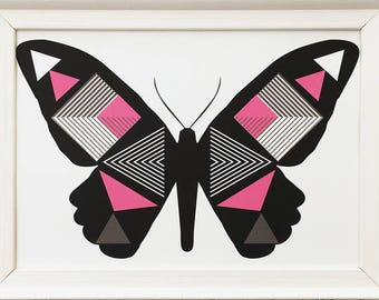 Perfect Symmetry Butterfly Black
