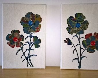 button fabric flower pictures