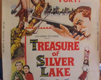 Treasure of Silver Lake (1962) Original One Sheet Movie Poster Lex Barker