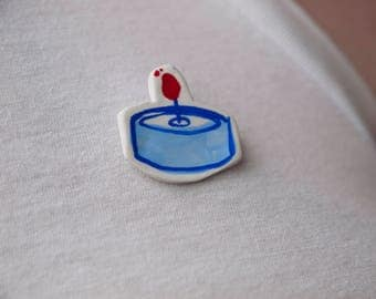 Tea Light Handmade Pin