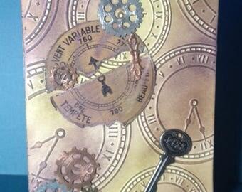 NEW! Friday Refresh - Greeting Card - Steampunk - Blank Card