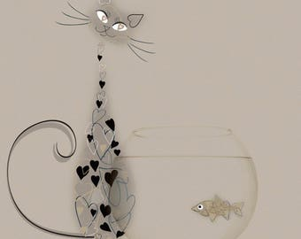 Catfish - Cat & Fish Card