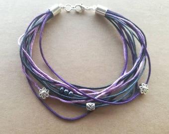 Crazy Daisies handmade bracelet