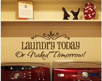 Laundry Home Vinyl Wall Sticker Inspirational Motivational Quote Wall Decal