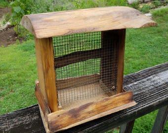 Rustic Pine Bird Feeder