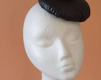 Burlesque fascinator, Veil, headpiece, black, butterflies