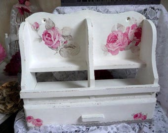 Romantic shabby style shelf Cabinet