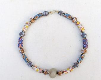 Trade beads choker necklace, Kenya jewelry, handmade jewelry, gift Jewelry, ladies jewelry, girls jewelry