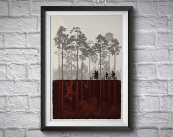 Stranger Things Art Print - Demogordon Posters - Stranger Things Poster - The Upside Down  Art - TV Show Wall Decor - Netflix Art