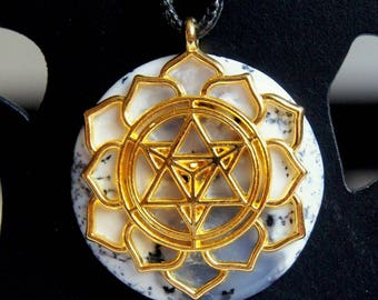 Dendritic Opal pendant and merkaba
