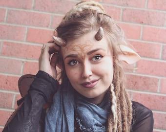 Wood Fae / Faun Horns Larp Cosplay Costume Faerie Faun Fawn