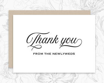 Thank you, From the Newlyweds, Wedding Card Digital Download