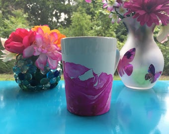 Pink Marble Coffee Cup
