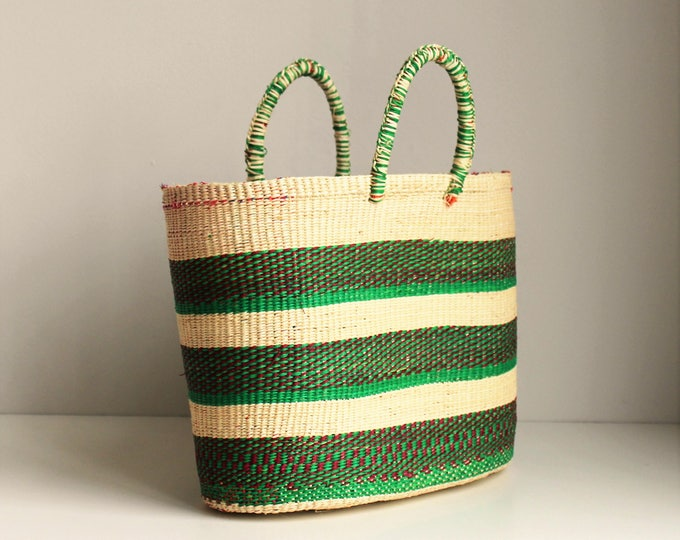 STRAW GREEN BAG