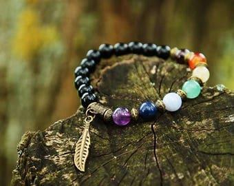 Healing bracelet 7 Chakras, Bronze - SIGHILD finish